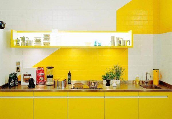 Tinta para azulejo de cozinha amarela