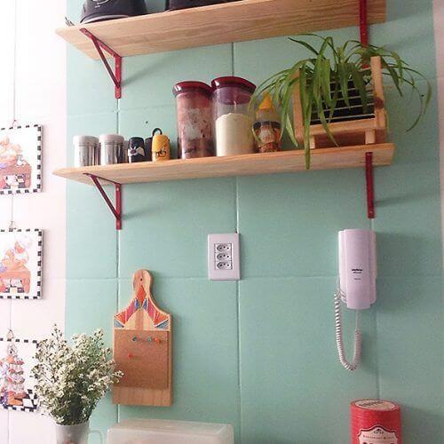 Tinta para azulejo de cozinha verde água