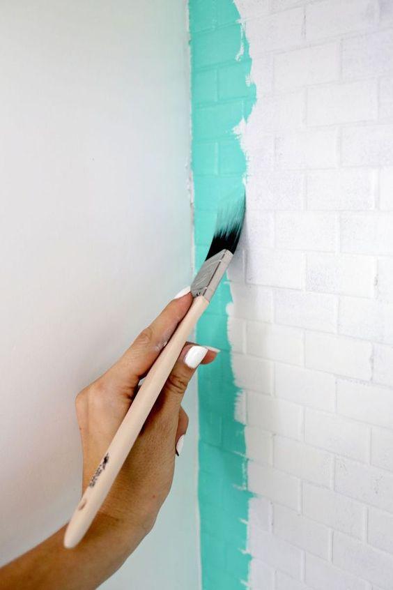 Tinta para pintar azulejo na cor tiffany