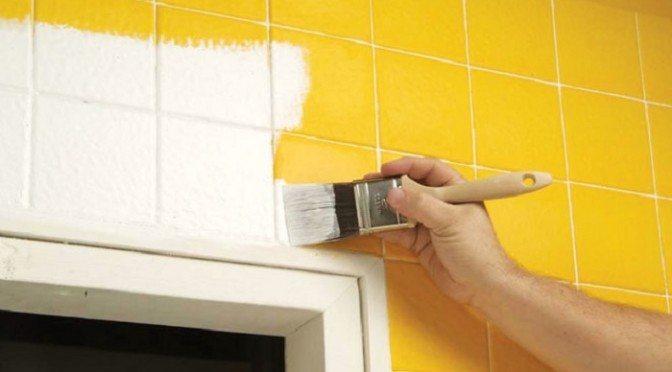 Tinta para azulejo de banheiro amarelo