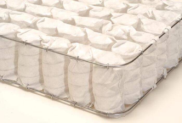 Estrutura de colchão com moldas