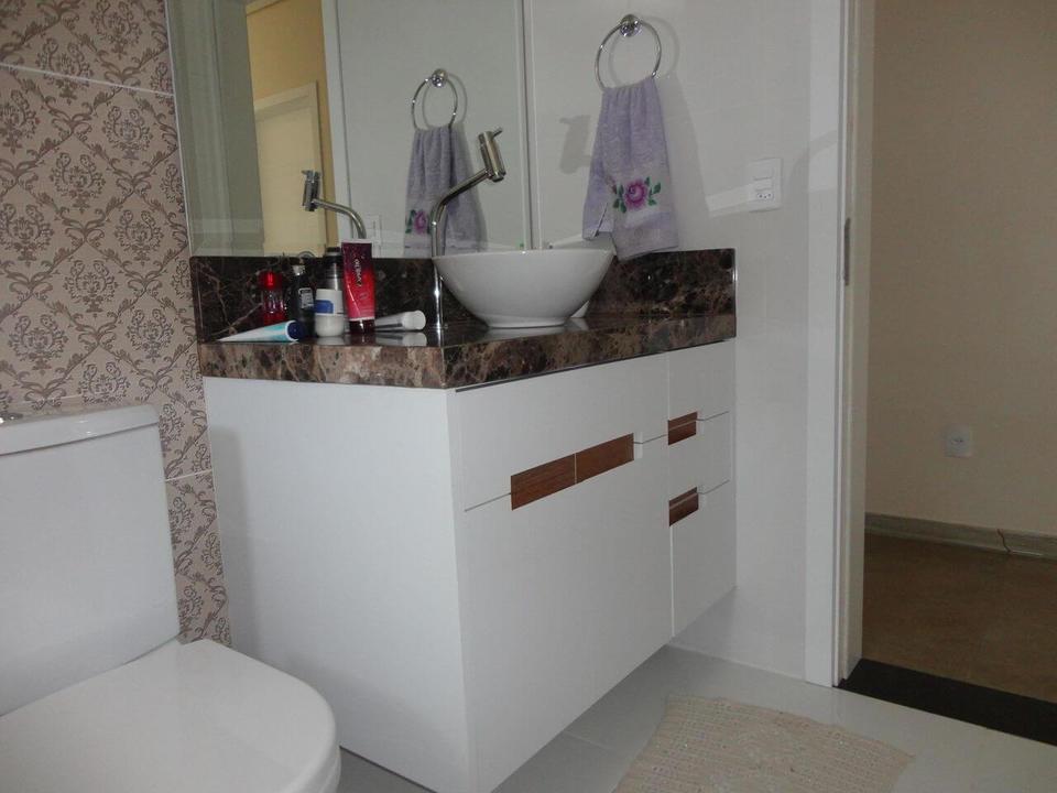 toalha de lavabo - lavabo com cuba redonda