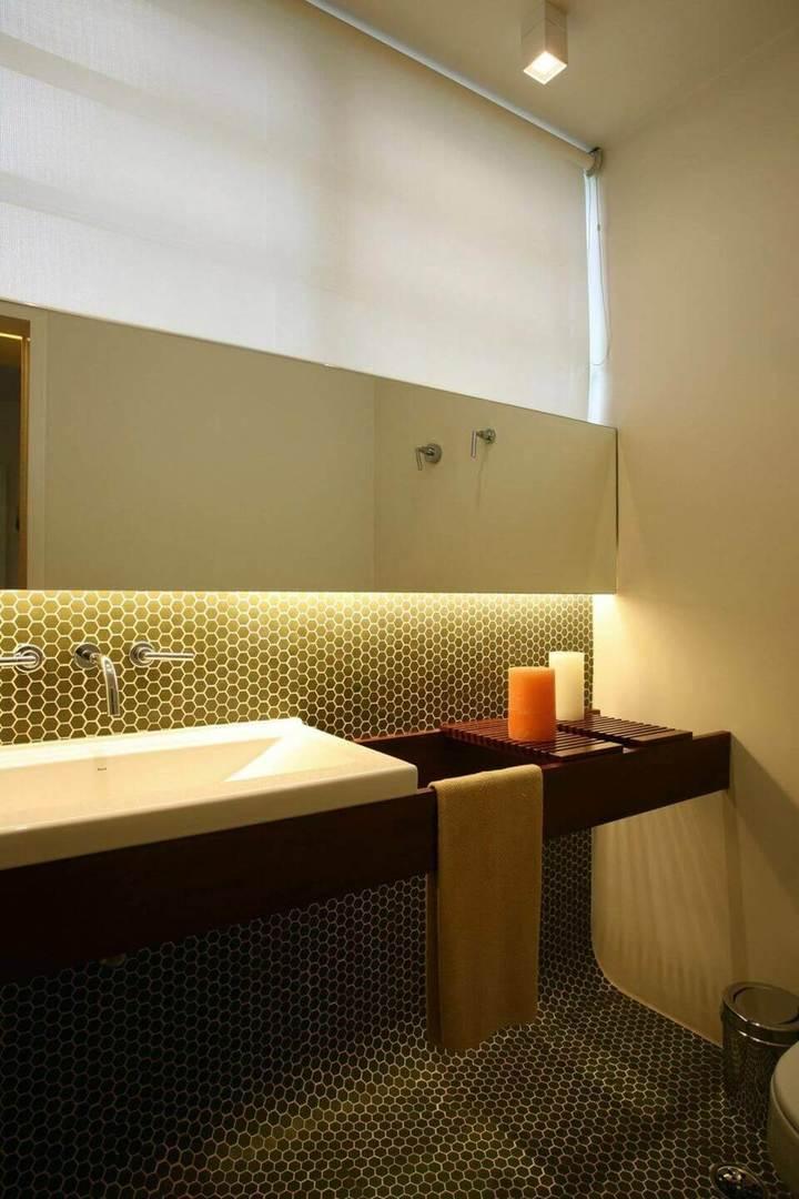 toalha de lavabo - lavabo com pastilhas