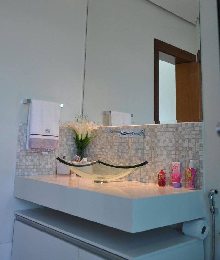 toalha de lavabo - lavabo simples