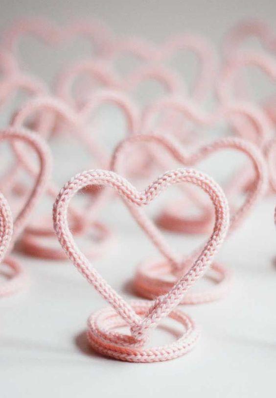 tricotin - coração de tricotin