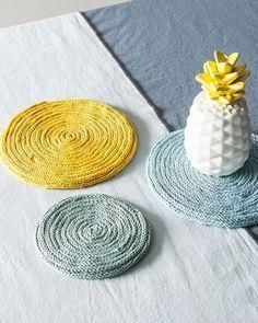 tricotin - descanso de prato de tricotin