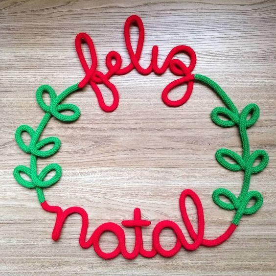 tricotin - frase feliz natal em tricotin