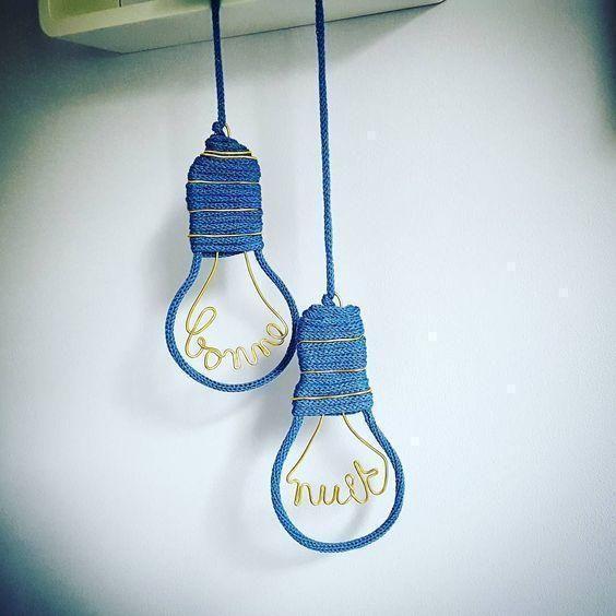 tricotin - lâmpadas em tricotin
