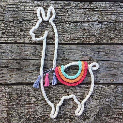 tricotin - lhama feita de tricotin