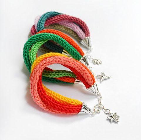 tricotin - pulseiras de tricotin