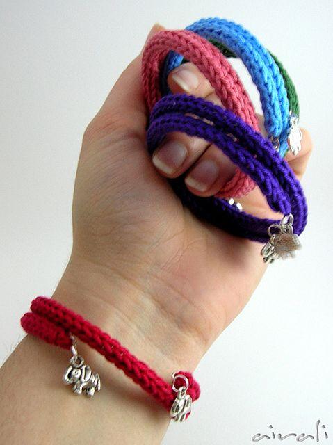 tricotin - pulseiras em tricotin