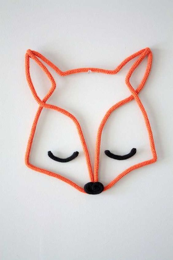 tricotin - raposa em tricotin