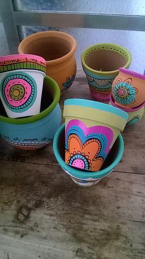 vaso de barro - vaso com desenhos