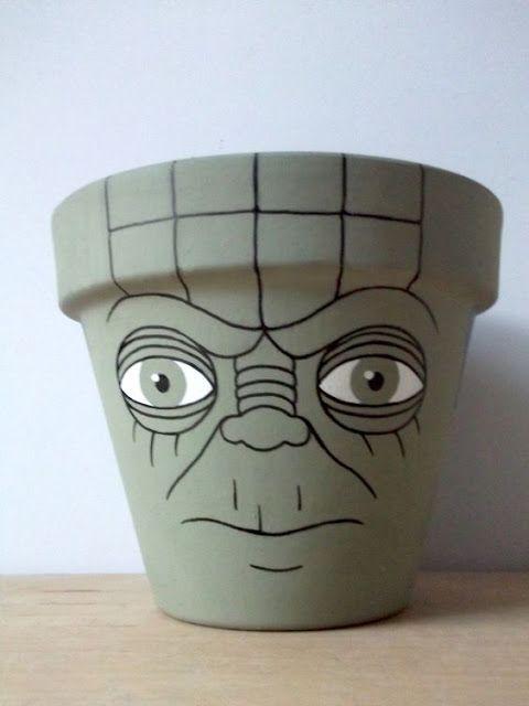 vaso de barro - vaso desenhado