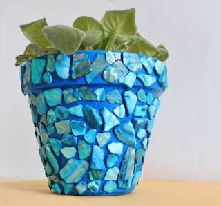 vaso de barro - vaso simples com pedras
