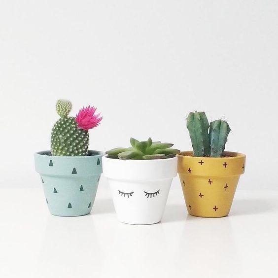 vaso de barro - vasos coloridos