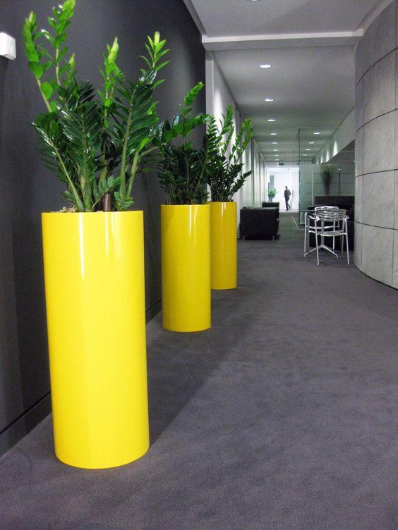 vaso de barro - vasos de plantas amarelos