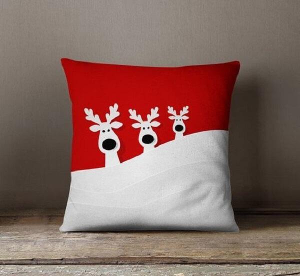 Almofada de Natal com design simples e fofo