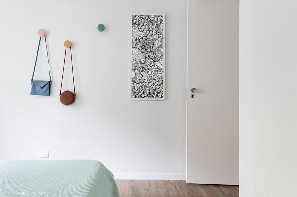 Gancho de parede em formato redondo