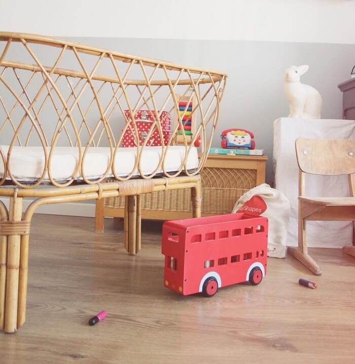 Berço de vime para quarto de bebê