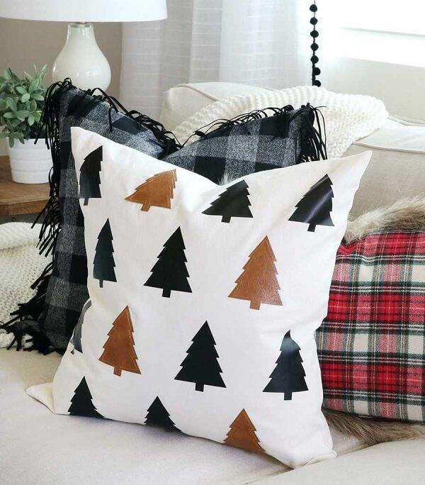 Almofadas de Natal com design simples e sofisticado