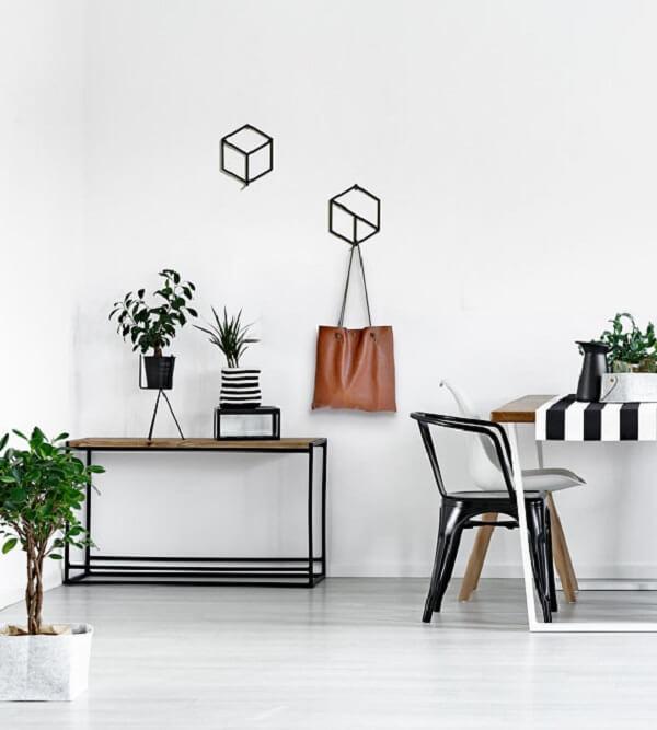 Gancho de parede com design moderno