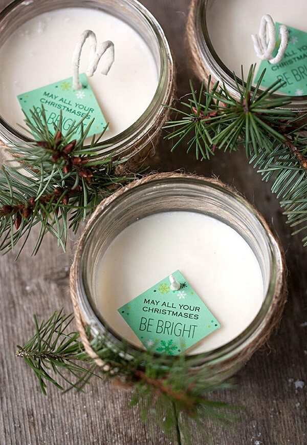 The candle becomes a great Christmas souvenir