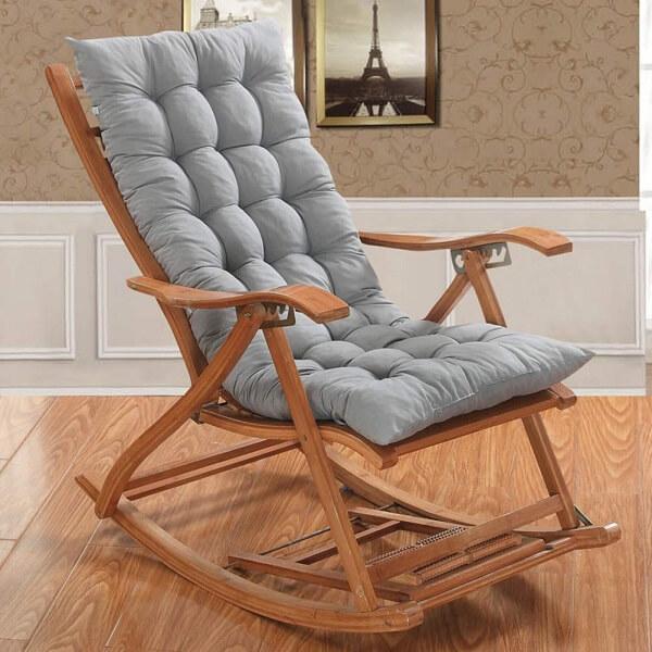Almofadas para cadeiras de madeira de balanço