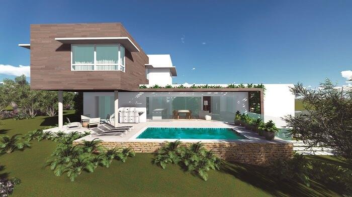 Arquitetura deslumbrante com piscina