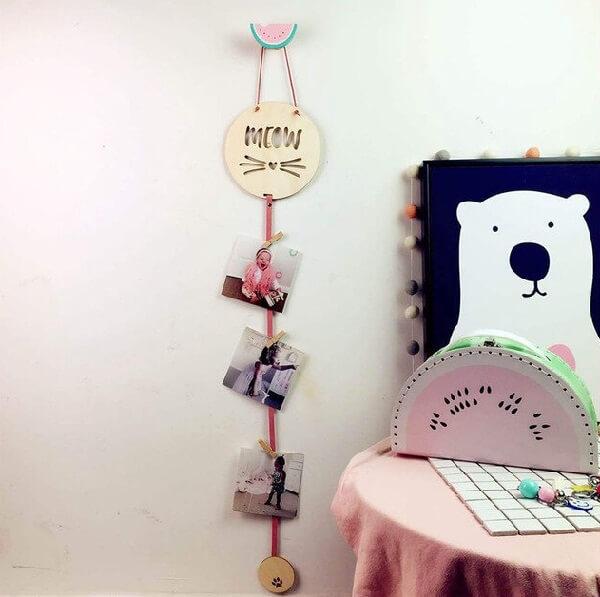 Gancho de parede em formato de melancia