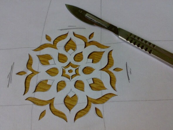 como fazer molde de stencil para parede