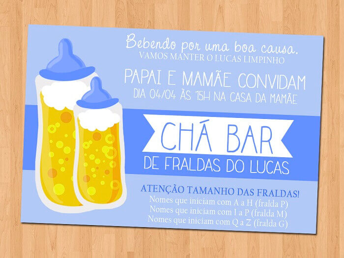 Convite para Chá Bar de Bebê