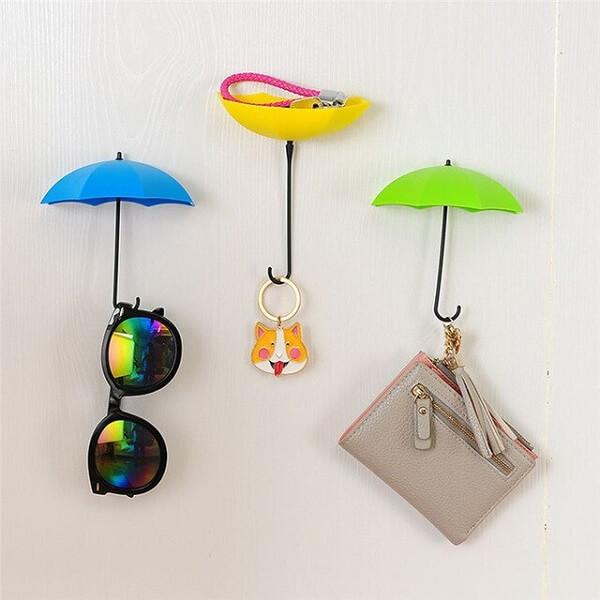 Gancho de parede em formato de guarda chuva