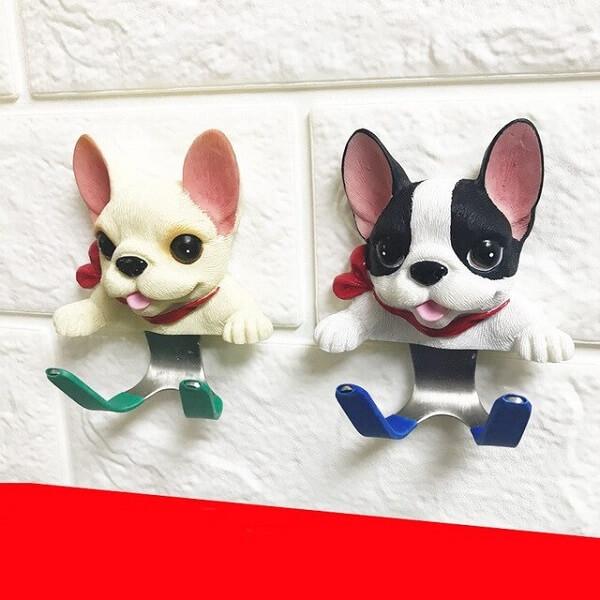 Gancho de parede com formato de cachorro