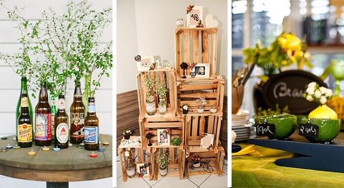 Decoração criativa e barata para Chá Bar