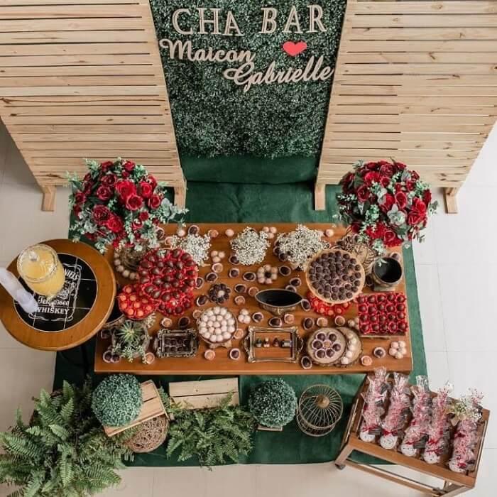 Decoração de mesa para festa Chá Bar