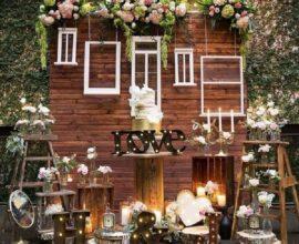 Decoração para mini wedding rústico Foto Pinterest
