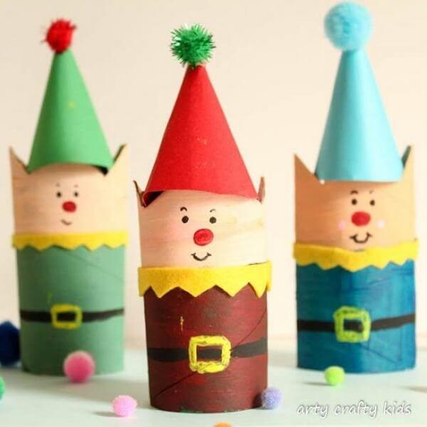Paper elf as a Christmas souvenir for the kids