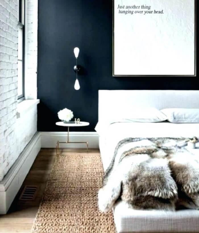 Invista em um tapete sisal ao lado da cama