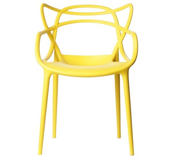 Modelo de cadeira allegra amarela
