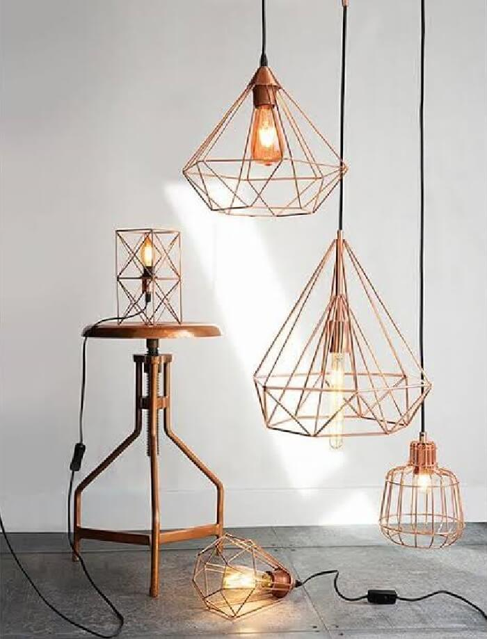 Modelos de pendente aramados para iluminar sua casa