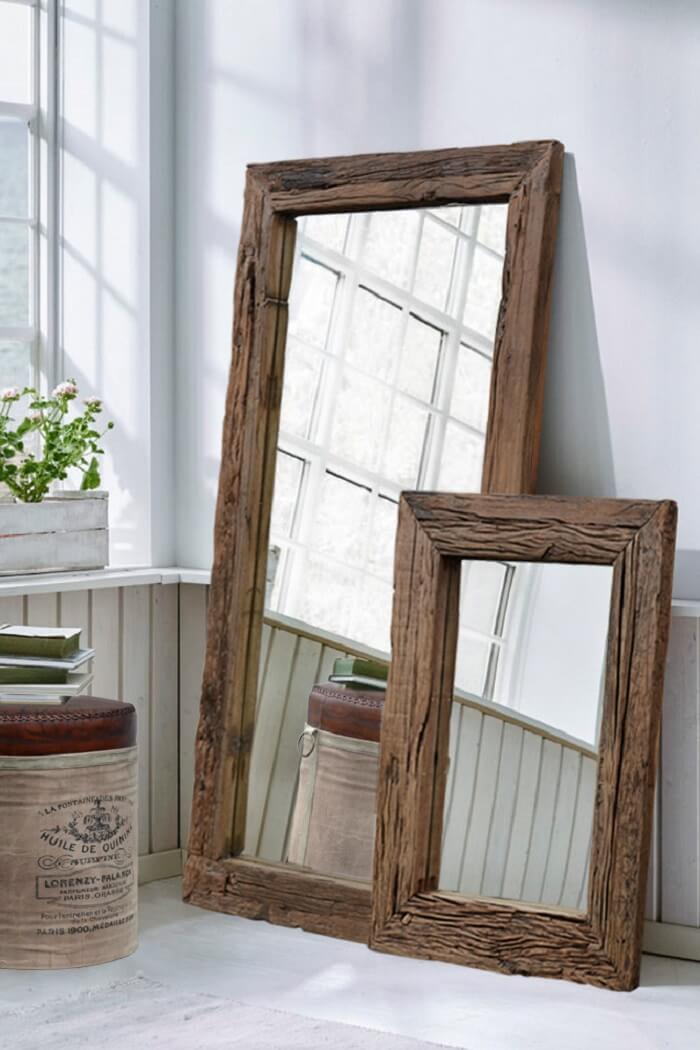 Moldura para espelho em MDF para decoração rústica