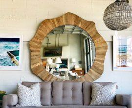 Moldura para espelho feito em madeira em formas orgânicas