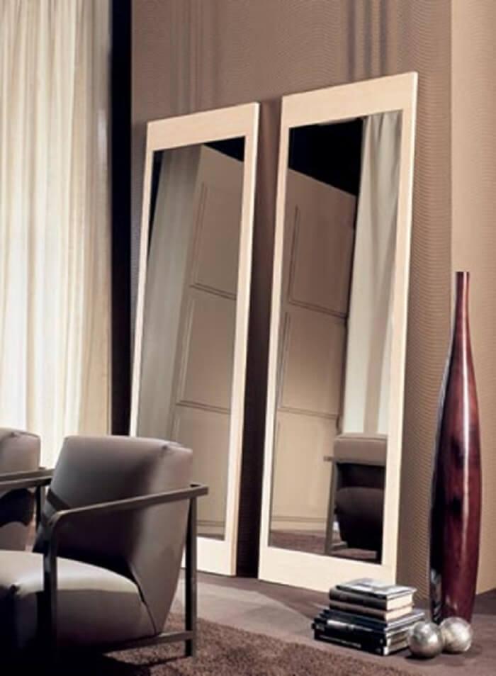 Moldura para espelho grande branco
