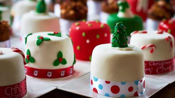 O mini bolo de natal faz muito sucesso