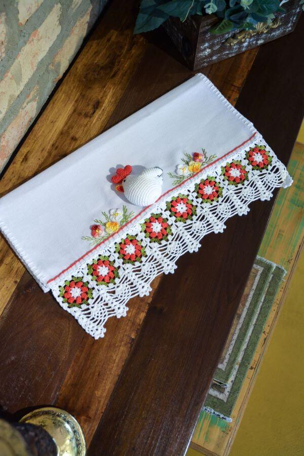 pano de prato bordado