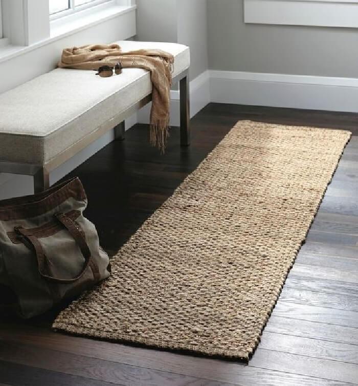 Passadeira feita com tapete sisal