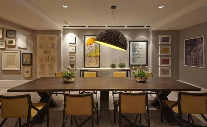 Pendente com cúpula grande para mesa da sala de jantar