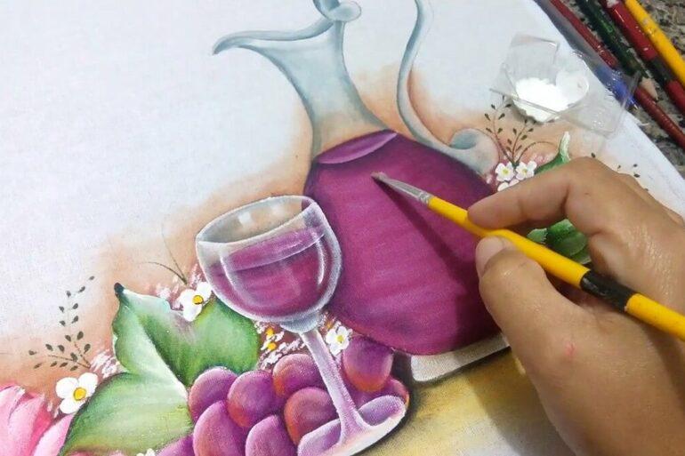 Pintura em pano de prato Foto Artesanato Total