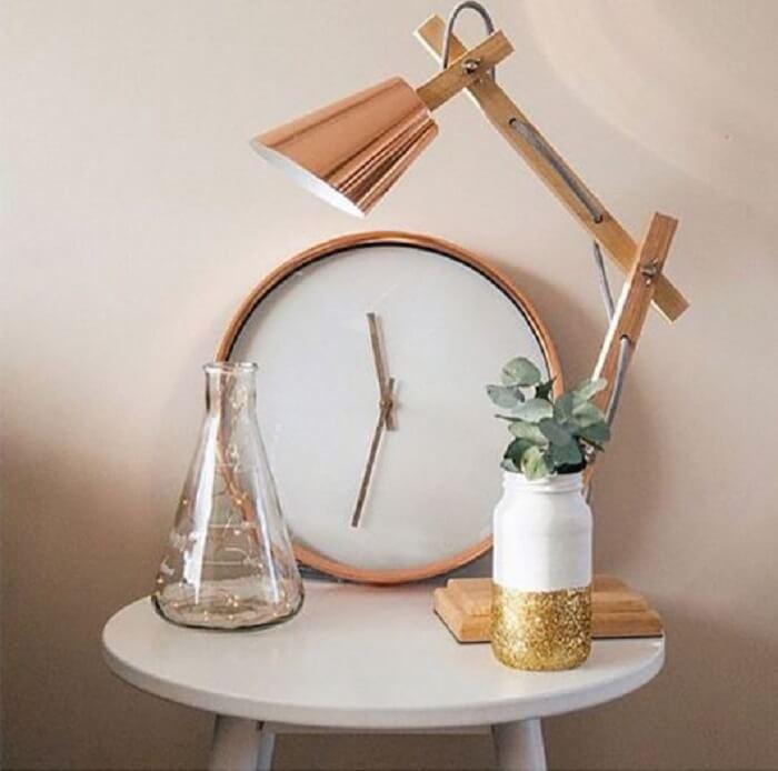 Relógio de parede Rose Gold